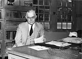 fielding yost at desk in athetic building ca date