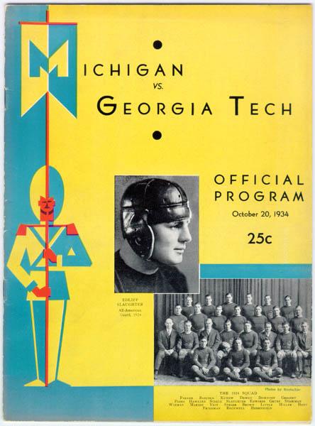 Art Of Football 1930 1939 University Of Michigan Athletics
