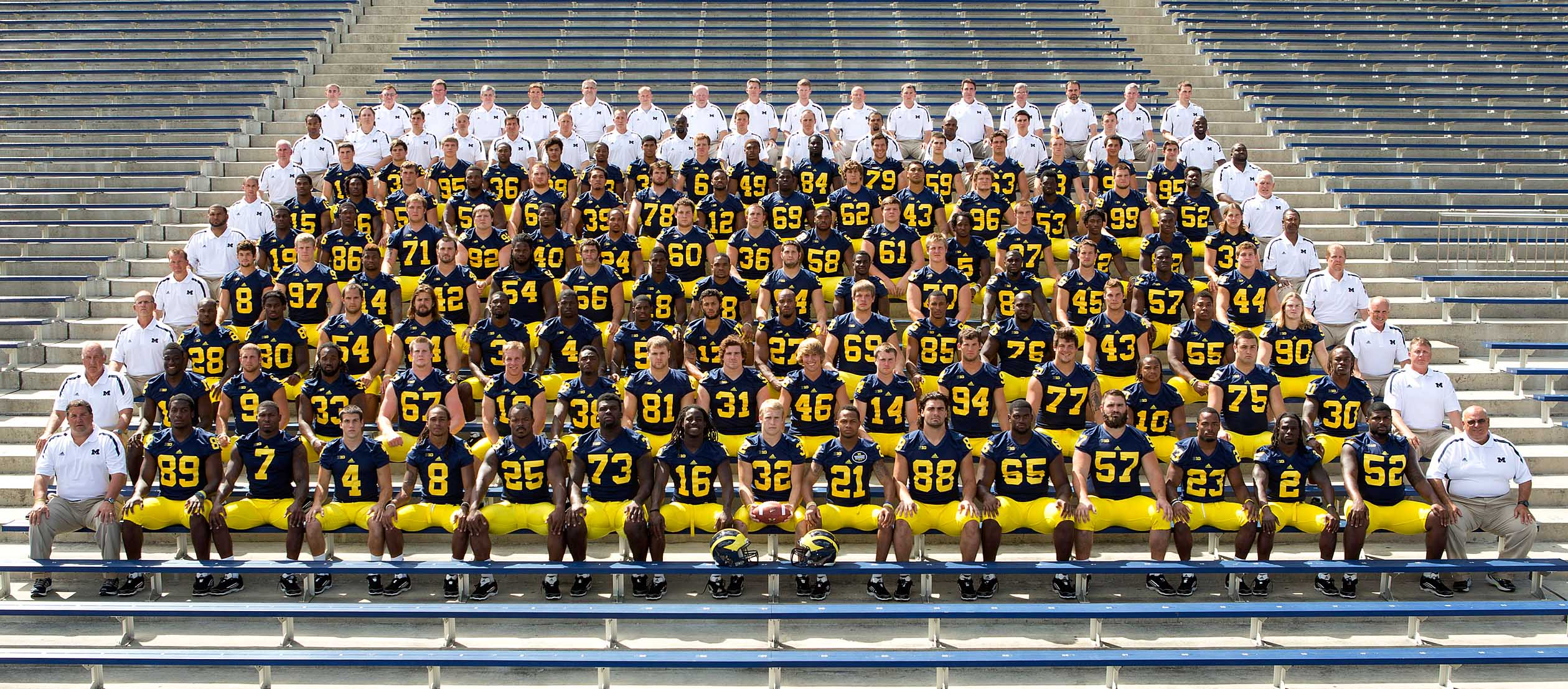 Michigan University Football Roster 2012 Clinic