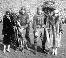 Michgan<br /> and Ohio State football captains, 1927