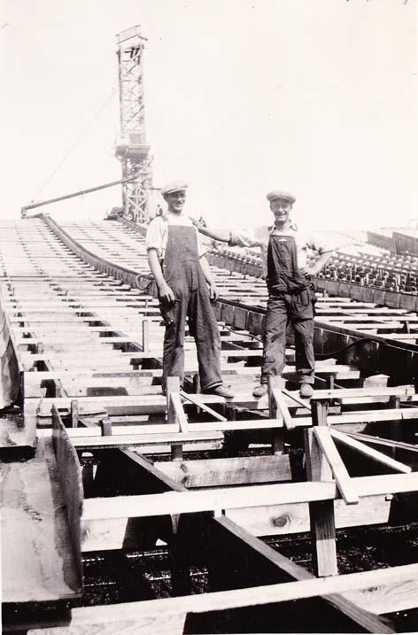 Michigan Stadium Construction Photos