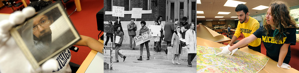 student researching, protest 1960s, student in archives
