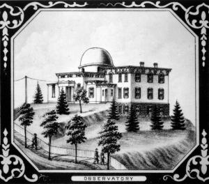 Early drawing of the observatory
