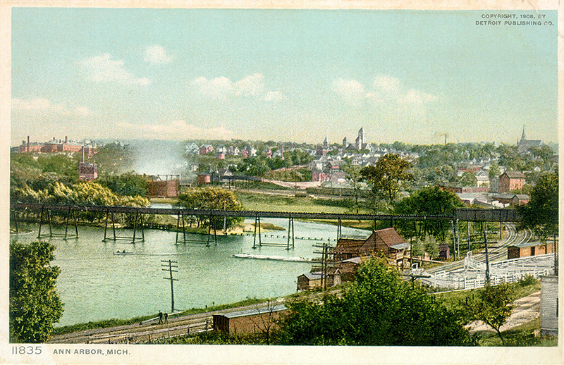 Old Ann Arbor Postcard