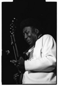Muddy Waters performs at the first Ann Arbor Blues Festival in 1969. Photo by Jay Cassidy.