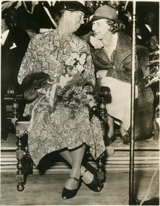 Gomon and Eleanor Roosevelt at the groundbreaking for Detroit's Brewster Project apartments, 1935.
