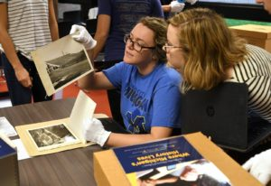 University of Michigan Bentley Historical Library research class and library tour, Monday, September 18, 2017.