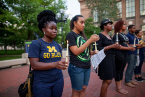 Student activists gather on the Diag, in 2012. Joel S. Johnson / Michigan Photography