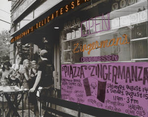 Customers wait outside Zingerman's Deli in Ann Arbor in this undated photo.