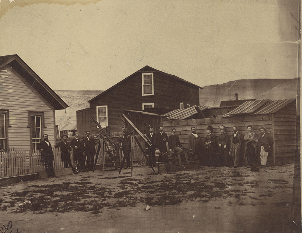 James Watson with other astronomers in Wyoming, 1878