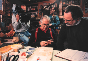 Harvey Ovshinsky with production crew